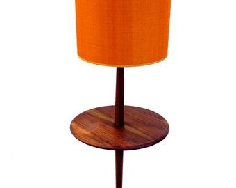 Mid-Century Walnut Wood Table Floor Lamp | Manner of Gordon & Jane Martz | Marshall Studios