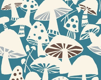 Westwood - Toadstools Mushrooms - Organic Cotton Print Fabric from Monaluna