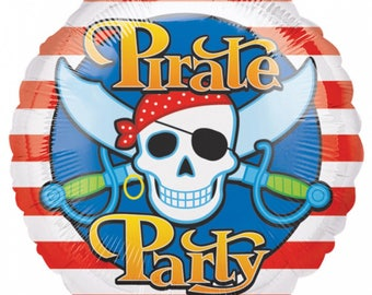 """Pirates Party  Standards Foil Balloon 18""""/Pirate party decoration/balloon decoration"""