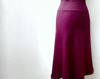 Long tulip skirt, organic cotton skirt, red skirt, handmade clothes