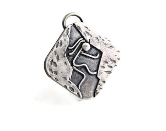 Rock Climbing Jewelry - Sterling Pendant - Climbing Jewelry - Outdoor Womens Fashion