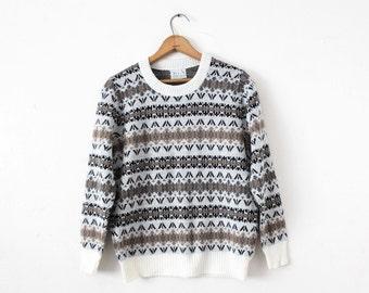 MEDIUM Vintage 1970s It's a Joy Knit Sweater