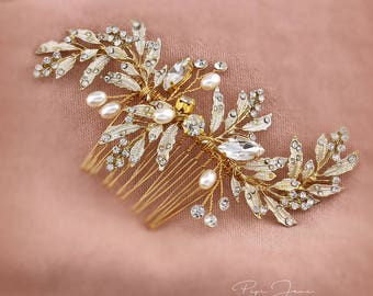 Bridal Hair Comb Crystal Leaves Wedding Hair Accessories Bridal Hair Accessory Crystal Bridal Comb Floral Comb Bridal Bling Bridal Hair pin