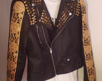 Studded (Faux) Leather Jacket