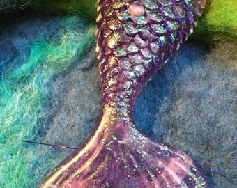 Resin Amethyst Mermaid Tail