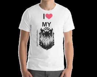 Screen Printed I Heart My Beard T-shirts Sizes S-4XL