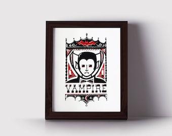 Vampire Halloween Monster Poster