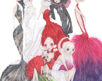 Alexander McQueen fashion illustration art print