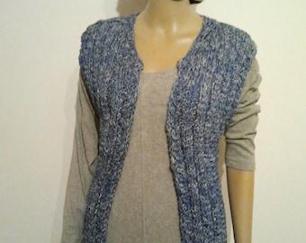 Blue Narrow Long vest