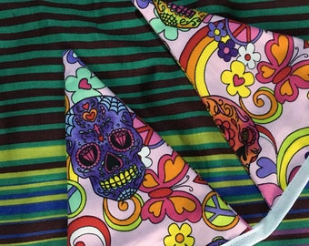 Skull day of the dead mexican sugar skulls bunting wall hanging decoration