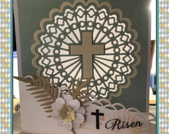 Illuminated Christian Card | sun catcher | religious card | Christian | cross | personalised