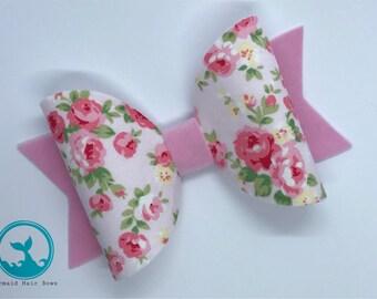 Rose Garden hair bow, choice of size, hair clip, headband, bobble