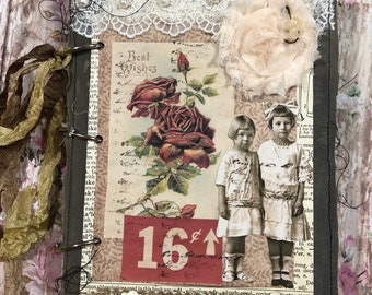 Recollections: 3 ring bound vintage style junk journal