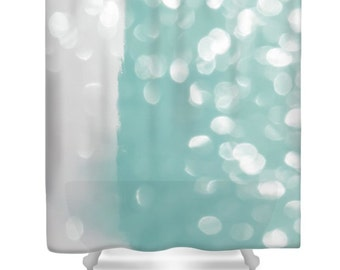 grey and aqua shower curtain. Aqua Bokeh Shower Curtain Abstract Teal Grey Designer Gray Bath  Accessories shower curtain Etsy