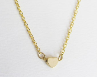 Small Heart Necklace, Heart Necklace, Gold Heart Necklace, Bridesmaid Necklace, Dainty Necklace, Bridesmaid Gift, Bridesmaid Jewelry