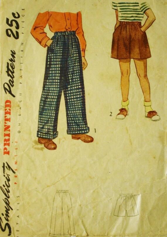 1940er Jahre jungen Shorts Jungenhose Einfachheit 2824