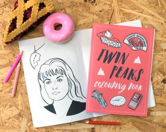 Twin Peaks Colouring Book, black lodge, log lady, adult colouring book, colouring pages, coloring book, stocking filler, twin peaks return