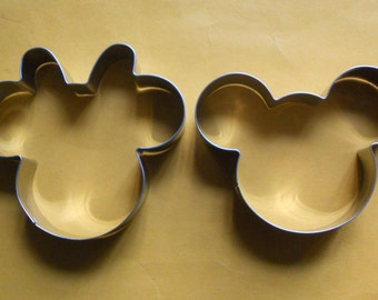 Mickey Minnie mouse Cookie Cutter Set Fondant Biscuit Pastry Baking Stainless Steel mold