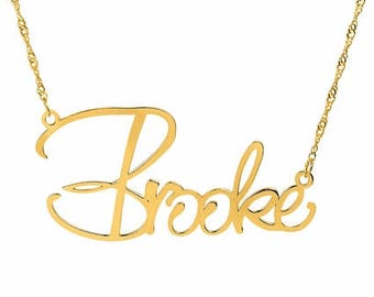 """Name Plate Necklace """"Brooke"""""""
