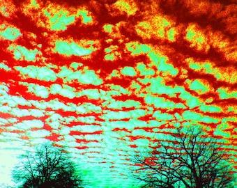 Surrealistic Sky / Expressionism / Orange / Blue / Fine Art Photography
