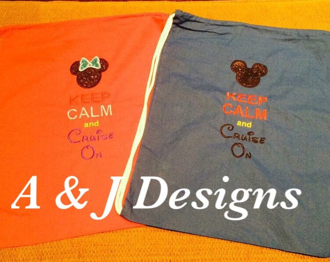 Mouse inspired Drawstring Backpacks