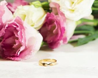 Mobius wedding  ring, 14k solid yellow Gold, Infinity gold ring, infinty wedding band, gold ring, unique wedding Ring, 14K solid Gold Ring