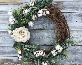 Spring Wreath, Easter Wreath,Farmhouse Wreath,Summer Wreath, Farmhouse Decor, Spring Decor, Rustic Wreath, Mother's Day Gift, Mother's Day