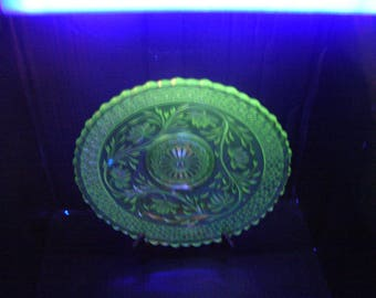 Rose Point Band  by Indiana Glass (cake plate or platter)