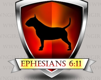 CHOOSE ANY BREED! When The Going Gets Ruff, Ephesians 6:11 Long Sleeve Tee Choose Color!