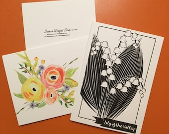 Flower Notecard // Lily of the Valley Notecard