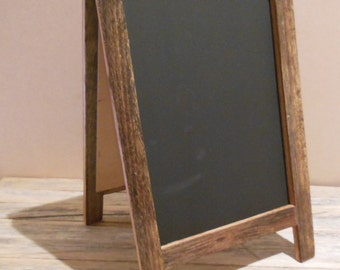 Small Table Top A-frame Chalkboard, Recycled Timber, Handmade