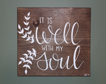 It Is Well Painting | Wood Decor | Handmade