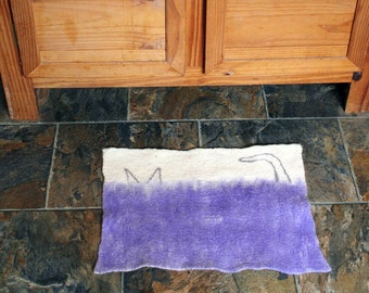 Cat Mat, Felted, Made to order