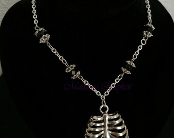 Torax necklace black