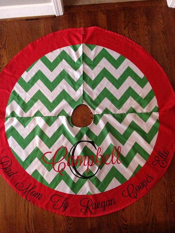 LARGE Personalized Christmas Tree Skirt, NOT EMBROIDERED, Design Your Own,  Printed Tree Skirt, Christmas Tree Skirt,