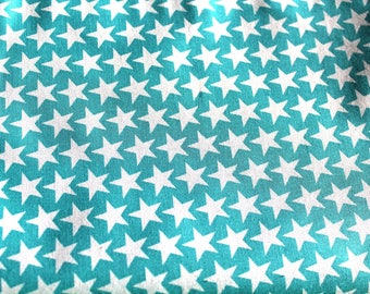 fabric star turquoise and white 50 * 70 cm