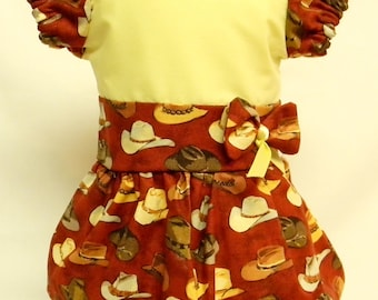Cowboy Hat Theme Dress For 18 Inch Dolls Like The American Girl