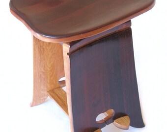 Twister, tabouret recyclé douelles de barrique vin, siège ergonomique, édition limitée