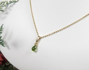 Peridot Pendant Necklace, August Birthstone, Green Gemstone Necklace In Sterling Silver, Gemstone Jewelry,  Keira's Crystal Creations