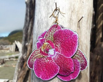 Natural Beauty, Orchid earrings