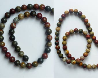 Picasso stone beads set * 8 or 6 mm * patterns