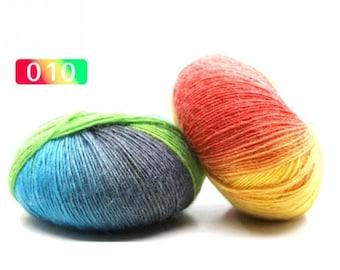 2 - Rainbow Wool Anti-pilling Yarn Skeins - #10
