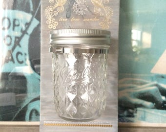 Candle Holder Serenity Mason Jar Vase Lalas Workshop Peace Love