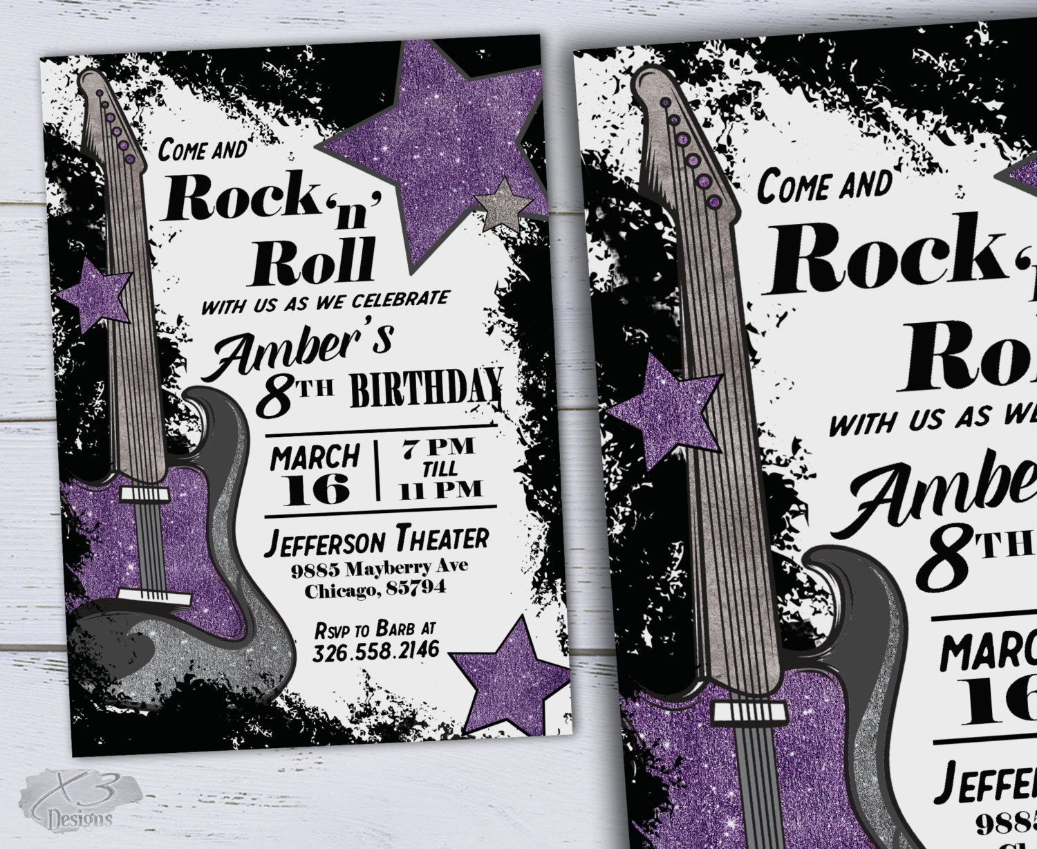 Printable sweet 16 birthday invitations diy guitar birthday zoom filmwisefo