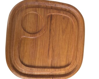 Mid-century teak serving tray