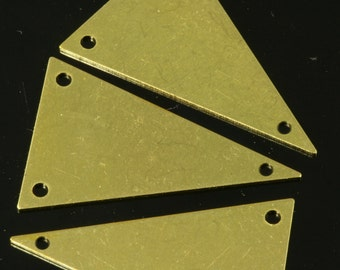 raw brass triangle 400 pcs 16x25 mm tag 3 hole raw brass connector charms ,raw brass findings 1469R