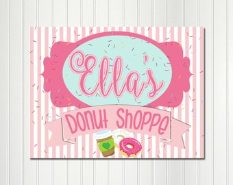 Donut Shop Party Backdrop, Donut Party Sign, Donut Shop Sign,Doughnut,Do-nut, Donut Birthday, Background, Sign, Banner, Poster,Donut Grow Up