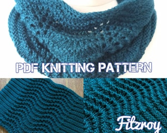 Fitzroy Cowl, PDF Knitting Pattern, Instant Download, Art Deco