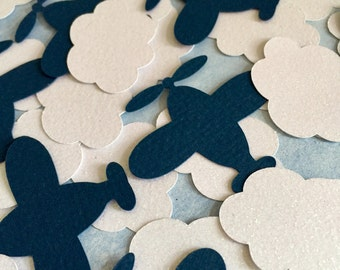 Airplane Party Decoration - Airplane and Cloud Confetti - 60CT.