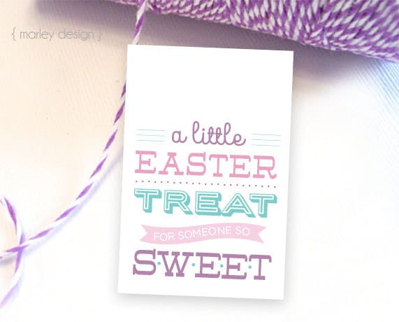 Easter treat tags printable easter tags easter gift tags zoom negle Image collections